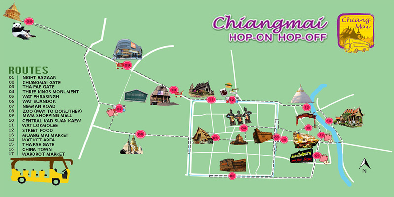 hop on hop off chiangmai , Hop on Hop off Thailand,Chiangmai city tour